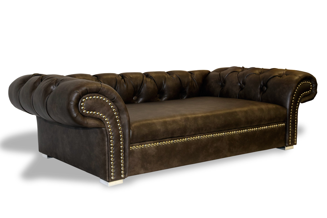 luxury dog sofa dog bed london chesterfield xl handmade in germany ebay. Black Bedroom Furniture Sets. Home Design Ideas